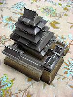 собранная модель Японского замка Химедзи