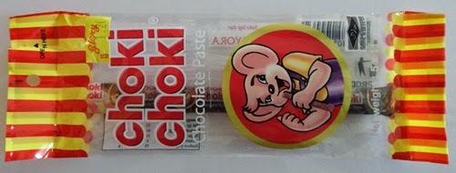 Choki Choki perisa cokelat Choki Choki Chocolate Paste Harga: RM1.20 1 bungkus mengandungi 5 batang Choki Choki 1 Choki Choki berat 11 gram