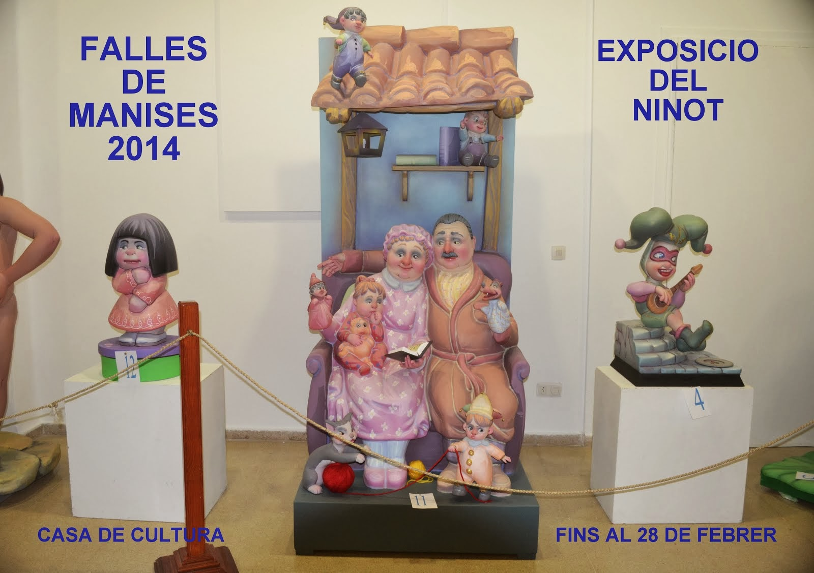 "FALLES 2014, EXPOSICIÓN DEL ""NINOT"" EN LA CASA DE CULTURA DE MANISES"