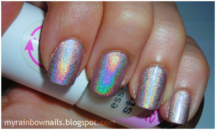 My rainbow nails smalto olografico shaka - Unghie argento specchio ...