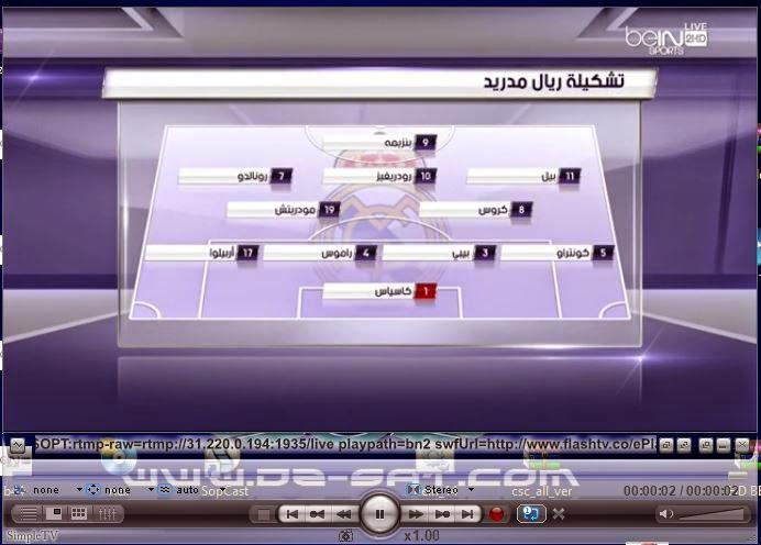 ملف قنوات IPTV لباقة beIN Sports على Simple tv