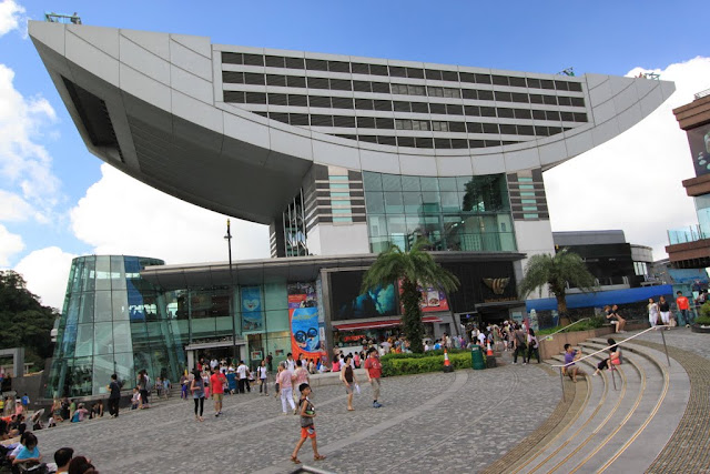 The Peak Tower is very stylish architecture design which accommodate visitors with shopping malls and restaurants after visiting Sky Terrance 428 in Hong Kong