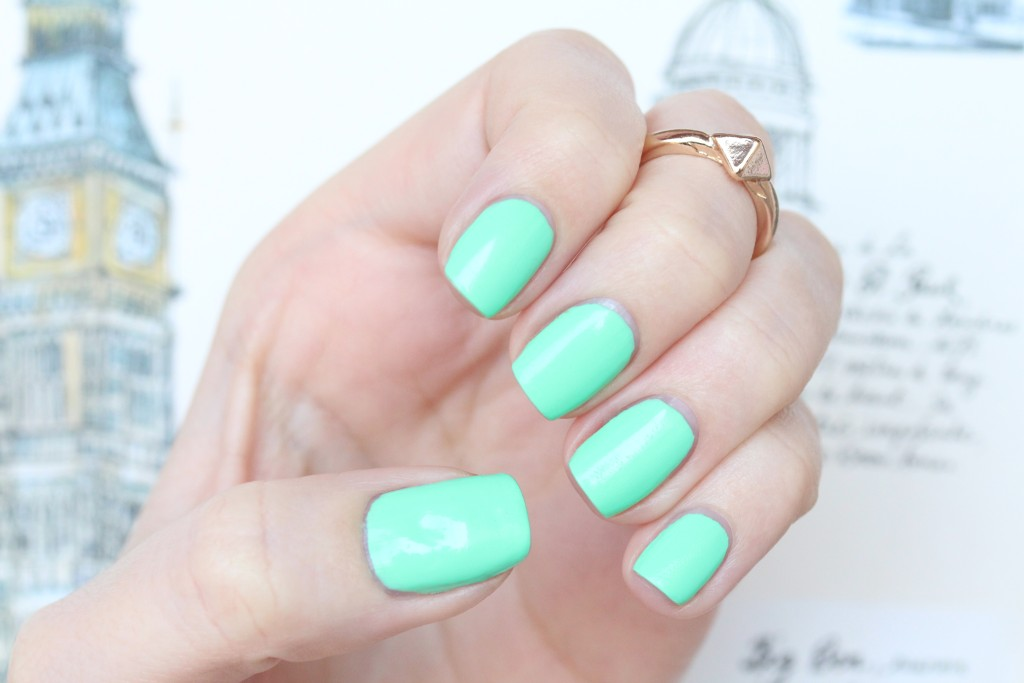 Bright Mint Green Nail Polish Nail Polish in 27 Green