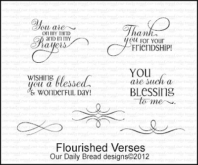 Our Daily Bread designs stamps, Flourished Verses