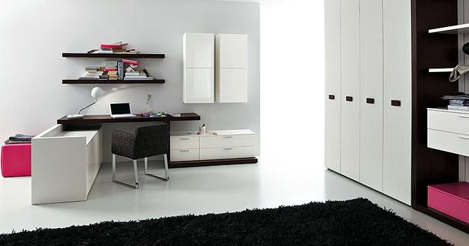 Idee deco chambre ado noir et blanc avec - Chambre fille noir et blanc ...