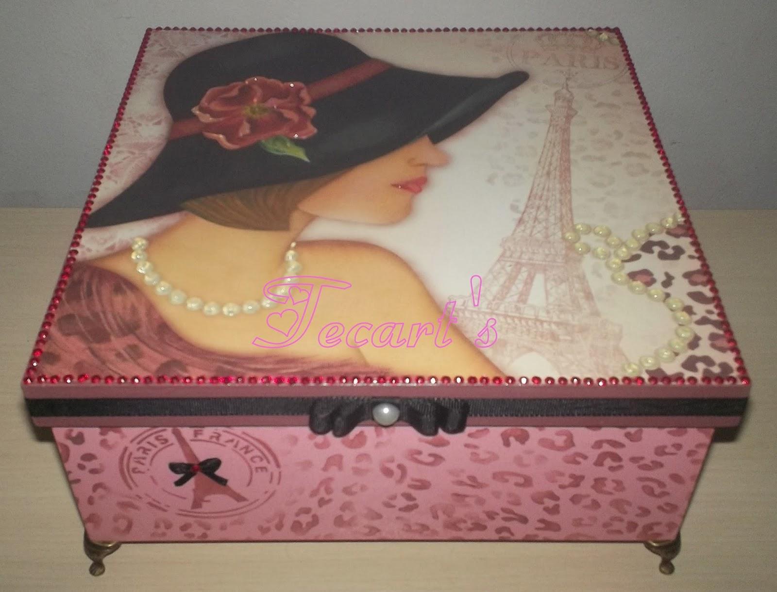 Tecart 39 s artesanato em eva e decoupagem caixas decoradas - Servilletas de papel decoradas para manualidades ...