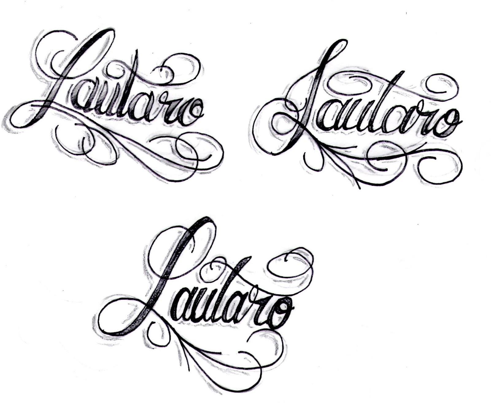 diseno letra tatuaje: