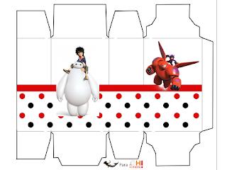 Cajas Big Hero 6 de para imprimir gratis.
