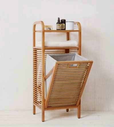 Luxury Retractable Bamboo Laundry Hamper Due to its size aside from bathroom it can be placed in utility place kitchen bed room patio balcony and so on