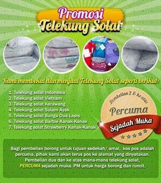 Telekung Solat(Borong&Runcit).Sila klik pada cover!