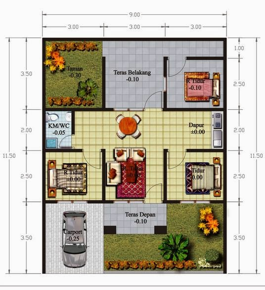 nadia mastemplate 6 desain interior rumah minimalis modern