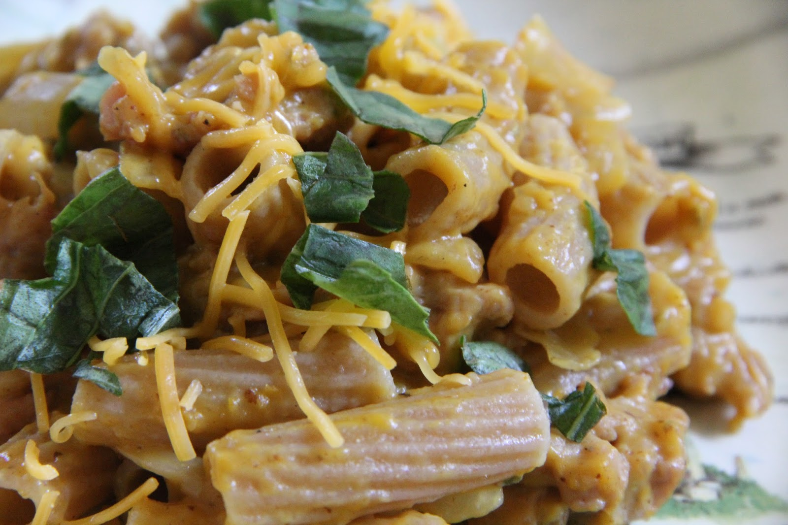 Spicy Sausage and Baby Spinach in Pasta with a Butternut Sauce - Page ...