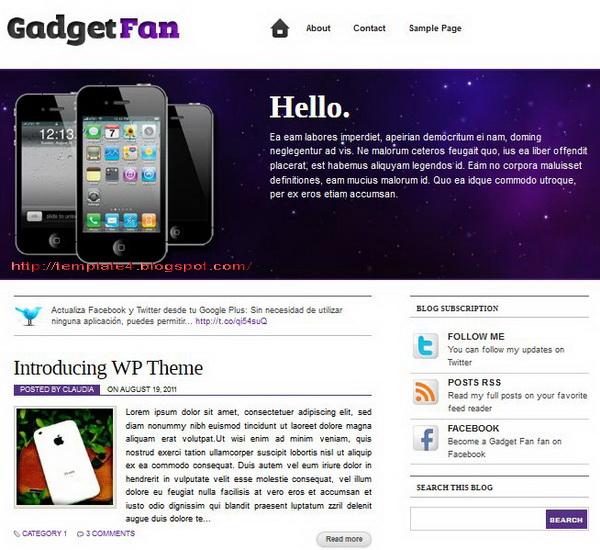 Gadget Fan WordPress Theme