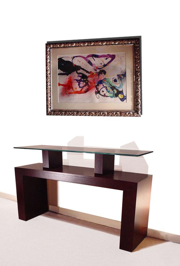 Mesa consola moderna en madera atria gonzalo de salas - Consolas modernas ...