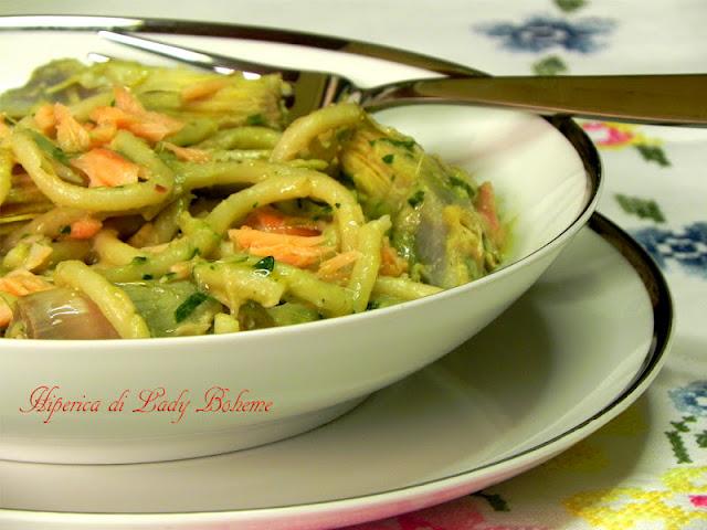hiperica_lady_boheme_blog_di_cucina_ricette_gustose_facili_veloci_pasta_con_carciofi_e_salmone_3