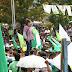 Mitin de la Presidenciable de la UNE Sandra Torres es opacada por jóvenes manifestantes que desapruebran la gestion y Candidatura  a Alcalde de  Oscar Pic Solis