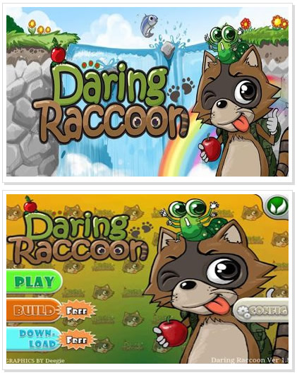 Android Game : Daring Raccoon HD