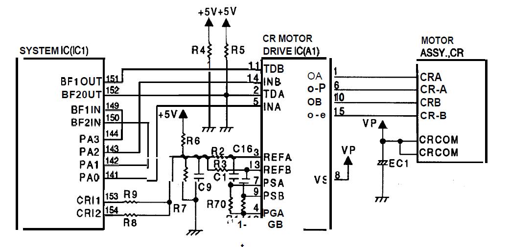 motores de la impresora epson