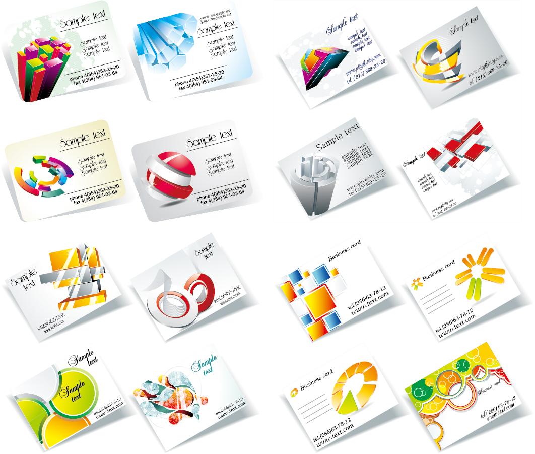 立体的に配置されたカード テンプレート threedimensional graphics card template イラスト素材