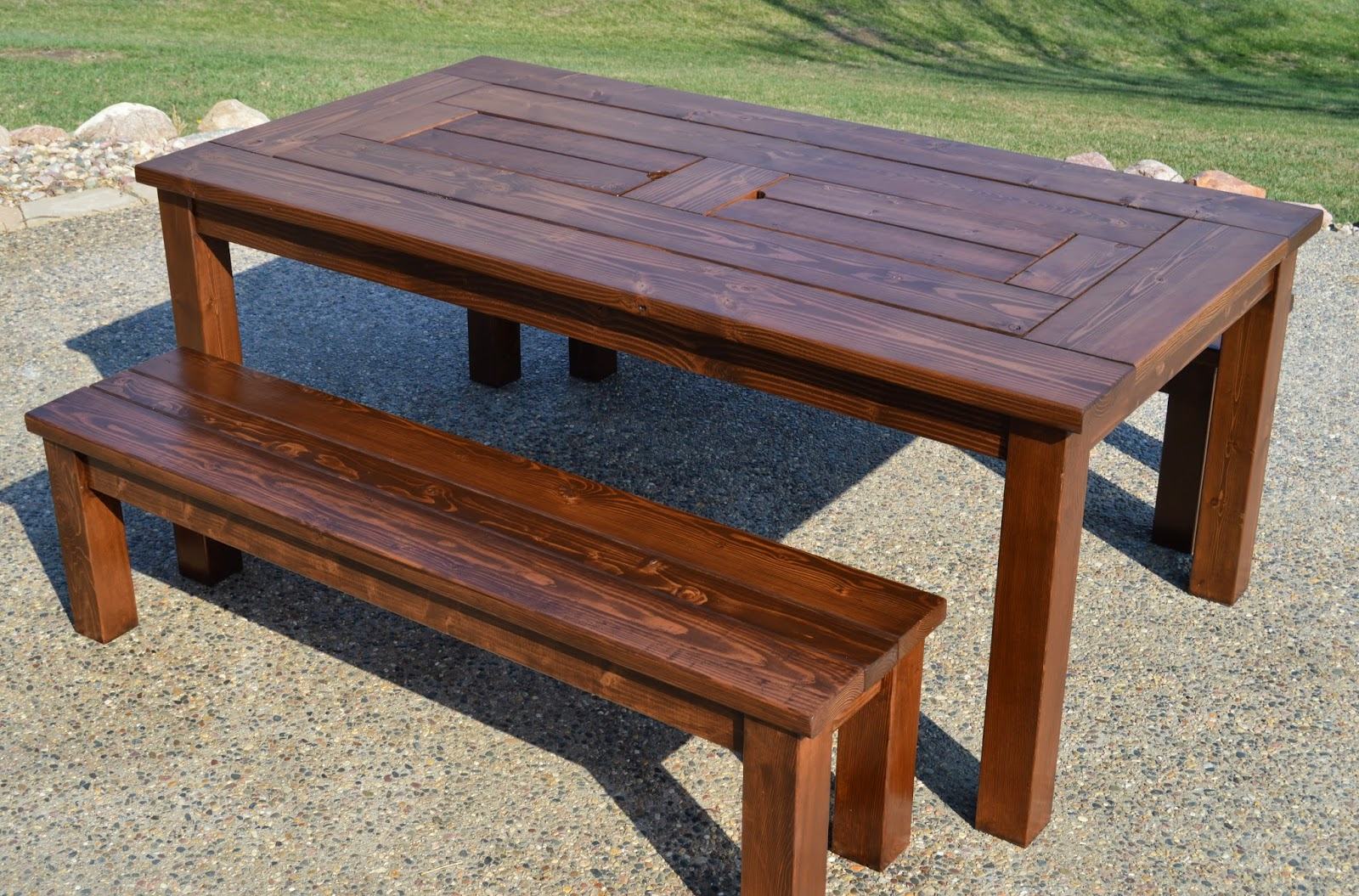 Perfect Patio Party Table With Built In Beer/Wine Ice Coolers