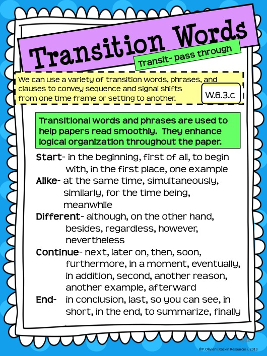 essay in transition
