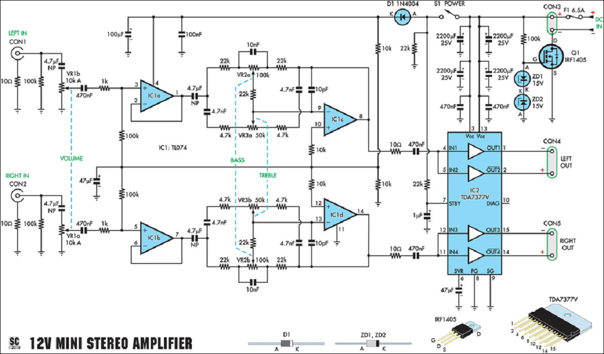Scheme 20 Watt Audio Amplifier