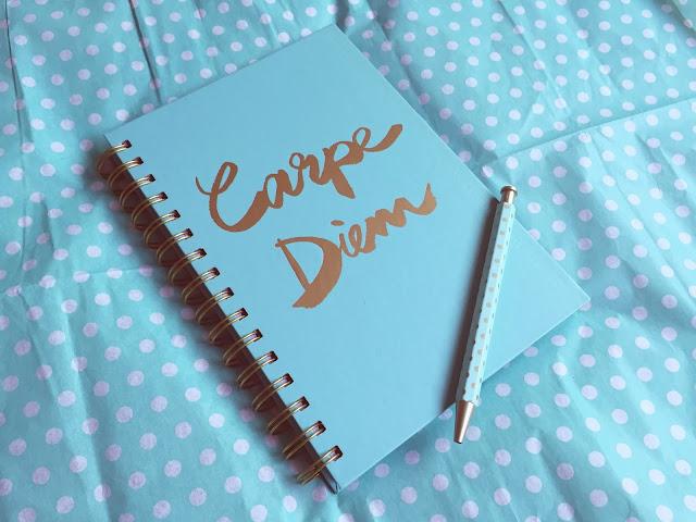 Carpe Diem Hardcover Notebook