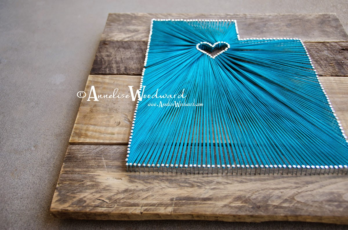 Nail Art Ideas state nail string art : Annelise Woodward | Photography: State String Art - Custom Orders!