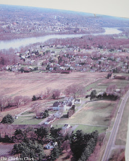 aerial view of the Hilltop Farm property.