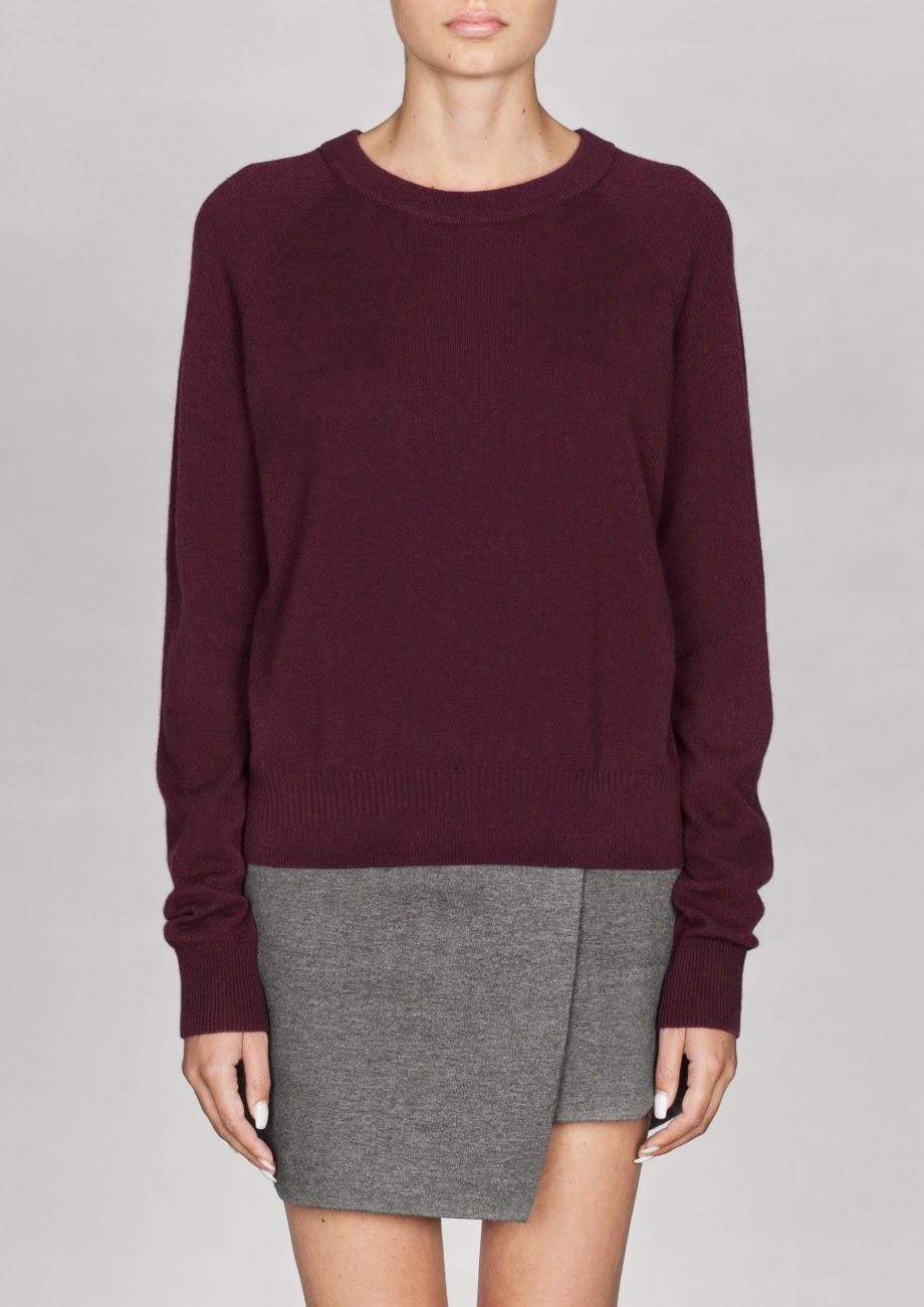 burgundy cashmere jumper, burgundy cashmere sweater,