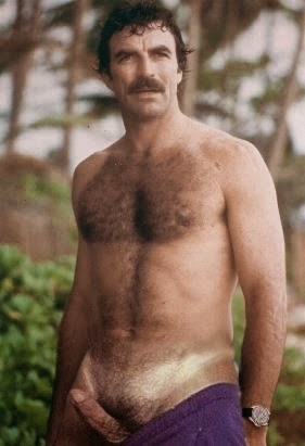 Tom Selleck Hairy Bear Naked Hard Erct Cock