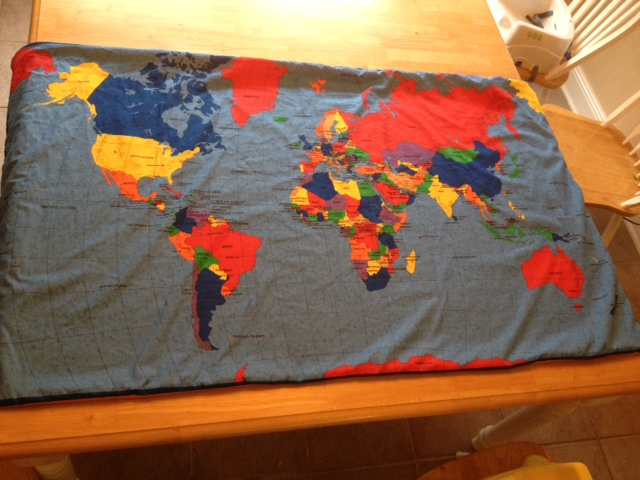 One day at a time blog candy fabric map the back is lined with soft orange fleece ouuuu cooozy its a blanket no its a map no its a gumiabroncs Gallery