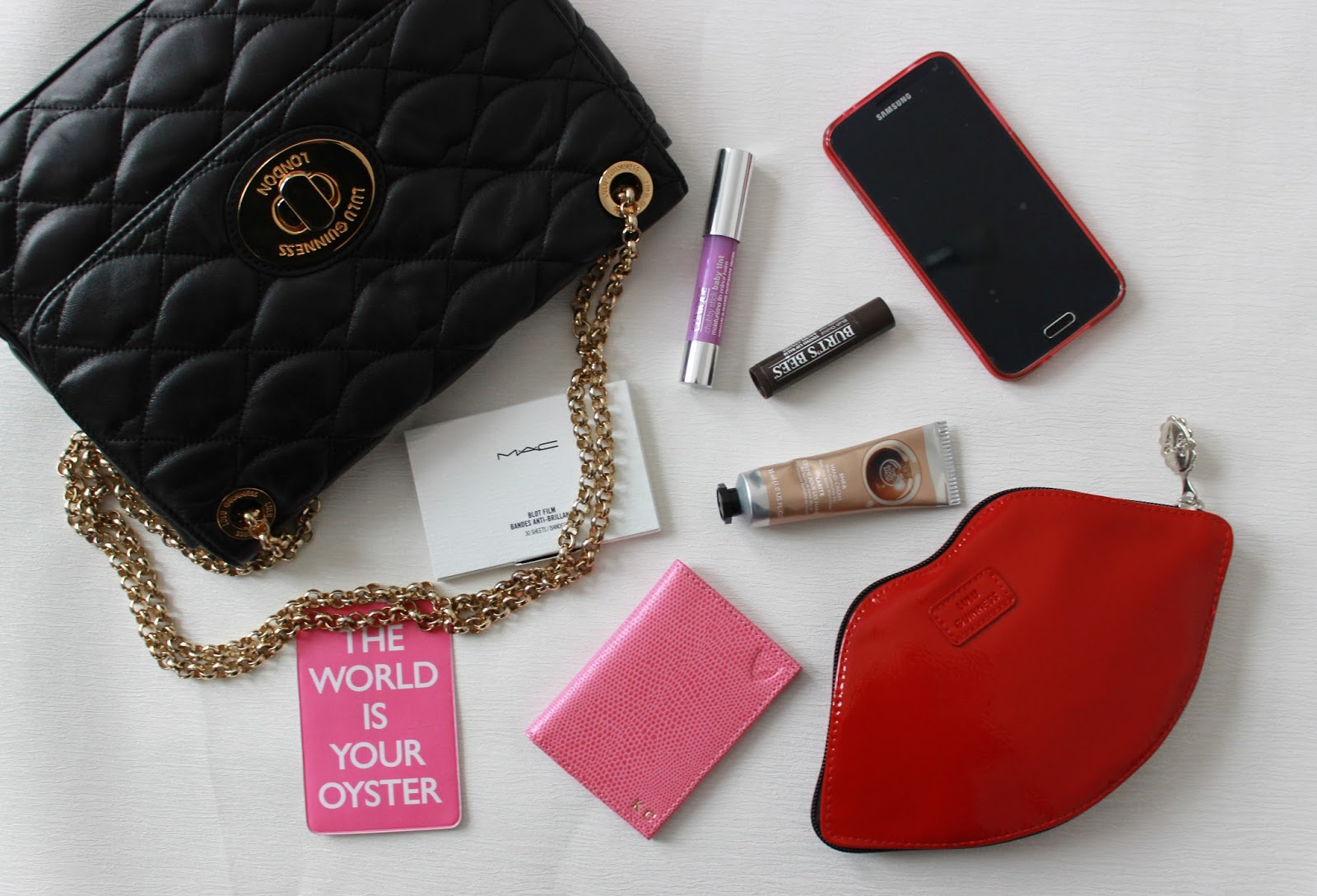 what's in my weekend lulu guinness handbag