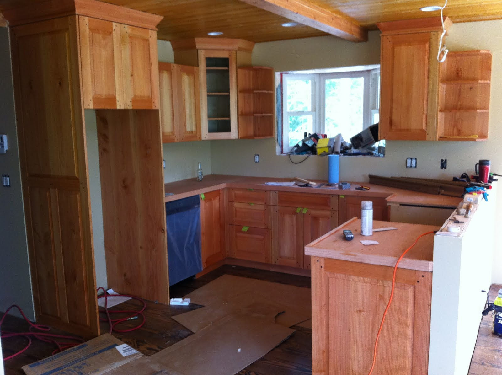 Birch Plywood Kitchen Cabinets