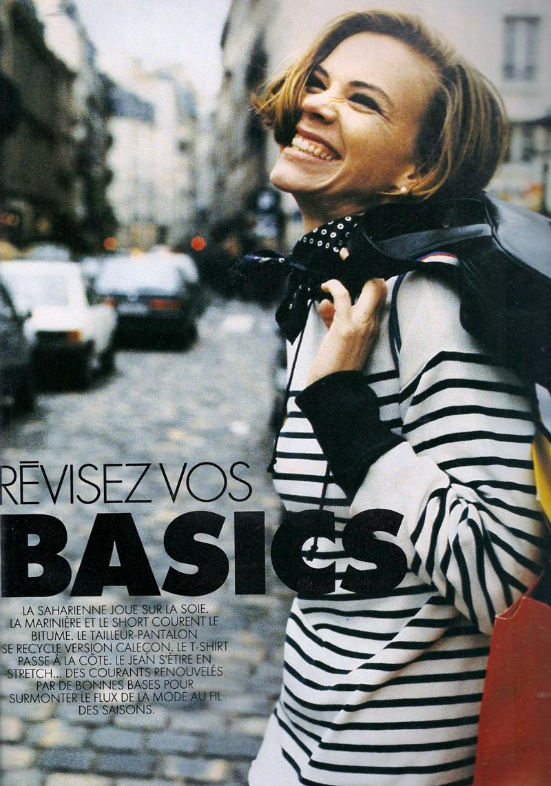 Breton top / how to style breton top / story of breton stripes / Elle France February 1991 via fashioned by love british fashion blog