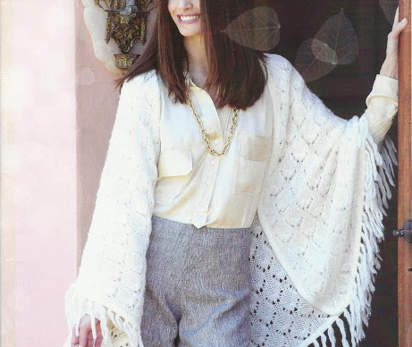 Chal con mangas a Dos Agujas o Knitting