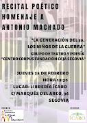 Recital poetico Homenaje Antonio Machado