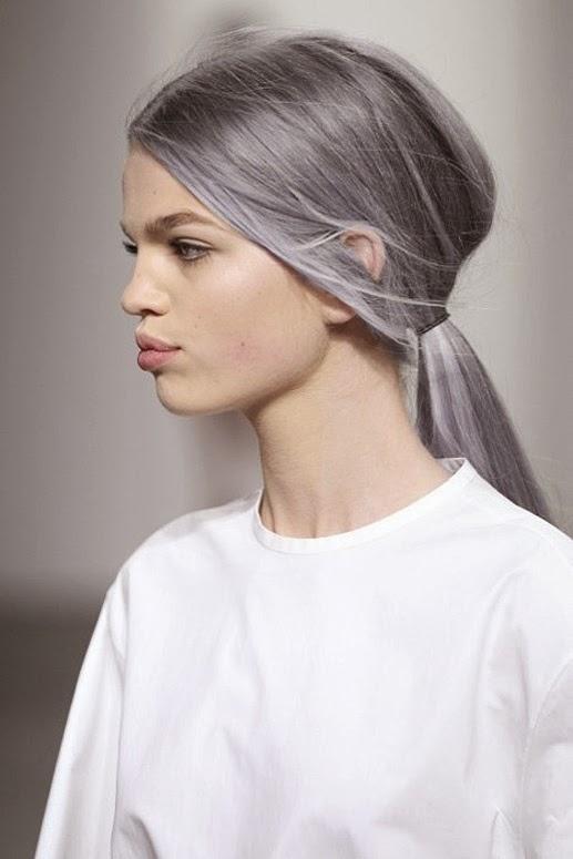 la macedonia de mariola pelo blanco y gris a los 20. Black Bedroom Furniture Sets. Home Design Ideas
