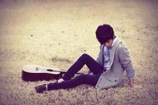alone boy with guitar cover photo for facebook