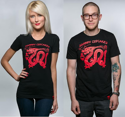 "Johnny Cupcakes ""Chinese Dragon"" Chinese Food Packaging T-Shirt"