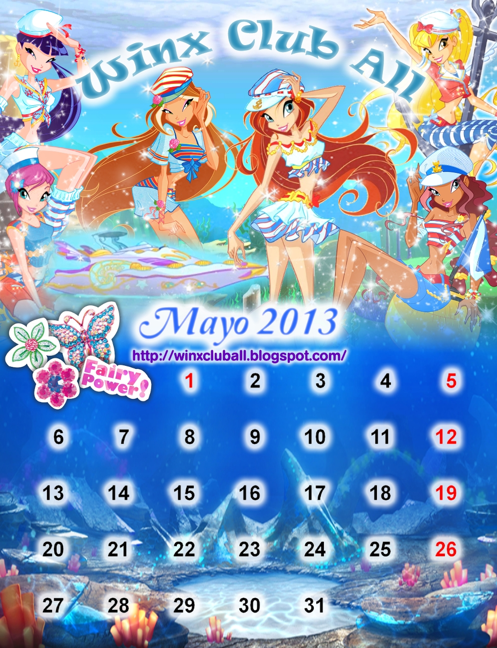 Calendario de Mayo