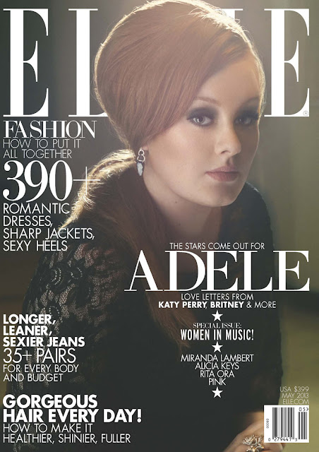 Adele on the Cover of Elle US May 2013