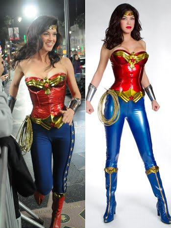 ... and matching blue boots -- made Wonder Woman look like a porn star.
