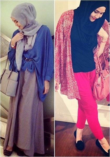 Foto Model Hijab Zaskia Adya Mecca 2014 Tren Gaya Jilbab Terbaru