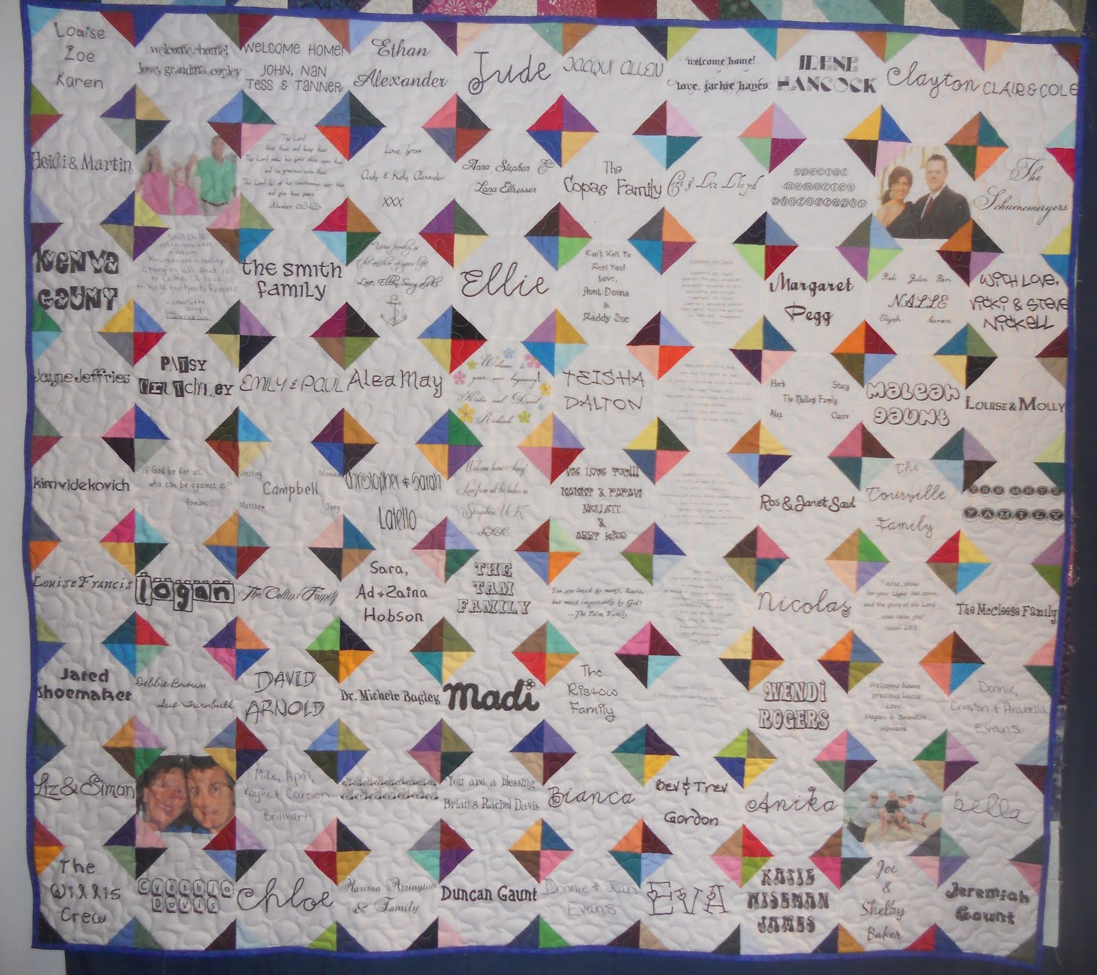 Katie's Quilts and Crafts: Signature Memory Quilt - printing on fabric : signature quilts - Adamdwight.com