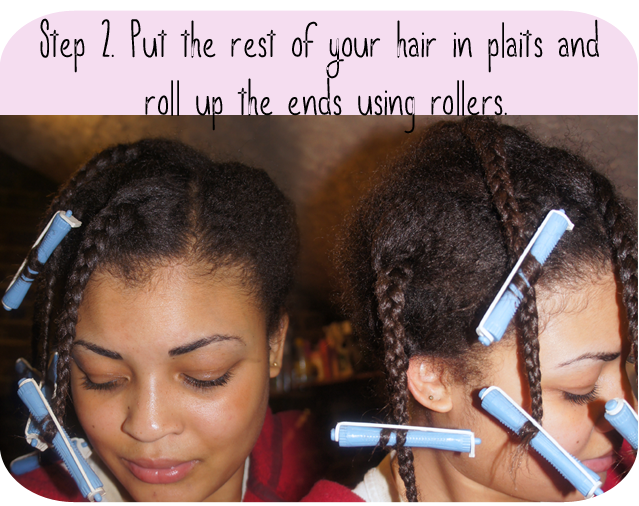 A picture of a transitioning to natural hair style tutorial