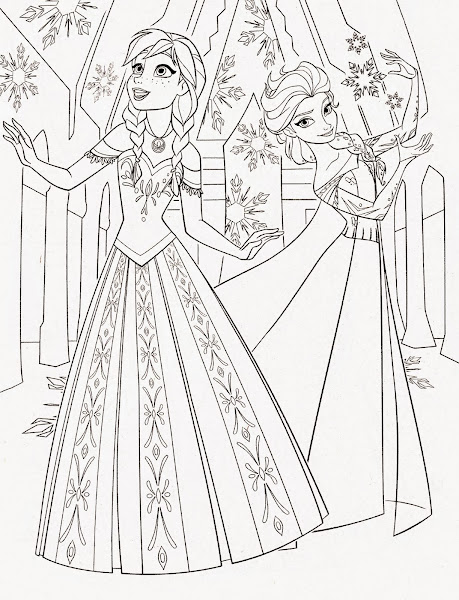 Princess Elsa Frozen Coloring Pages