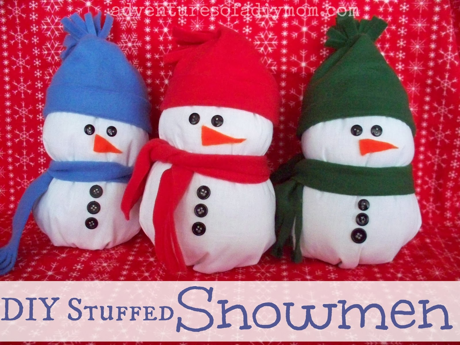 How to make a stuffed snowman adventures of a diy mom for How to make a snowman
