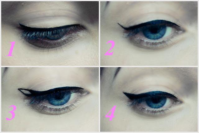 tutorial rysowania kreski na oku eyelinerem
