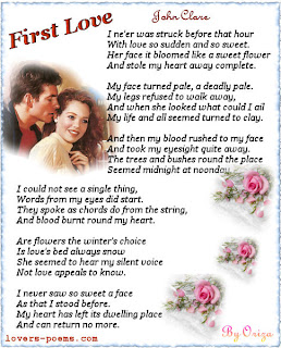 poem john clare first love